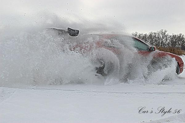 Встреча автолюбителей Оренбурга для подготовки трассы на замерзшем озере 2016